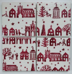 4 Ceramic Coasters in Emma Bridgewater Christmas Village
